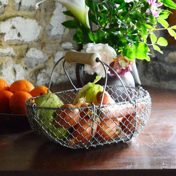 Panier de récolte artisanal