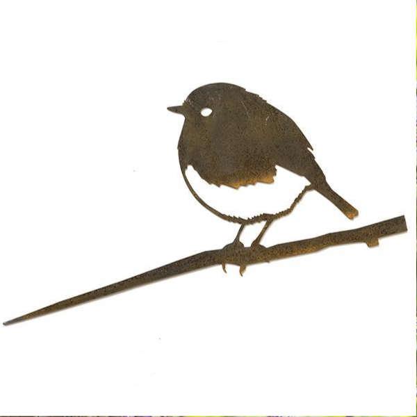 Rouge-gorge oiseau en métal