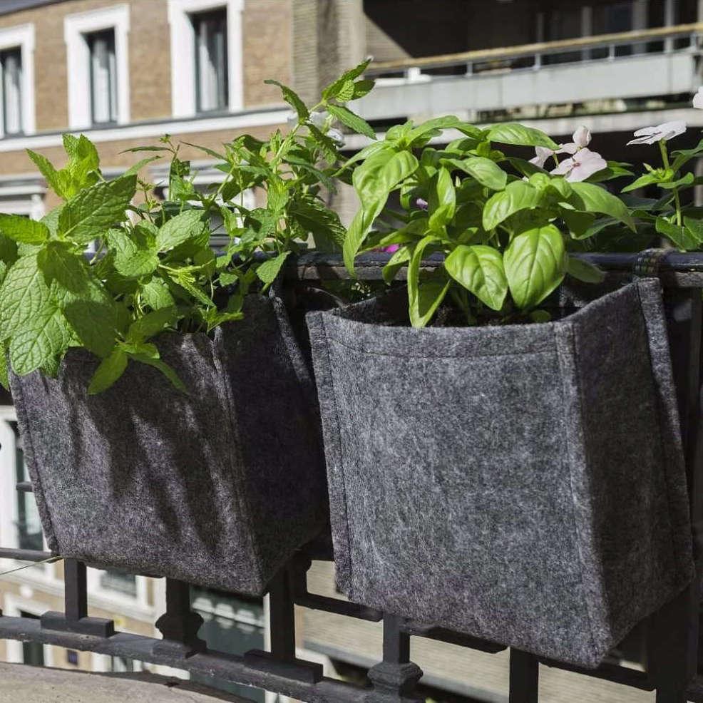 Jardinières de balcon en tissu