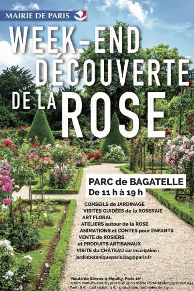 Week-end de la rose au parc de Bagatelle